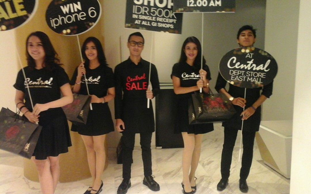 SPG event promosi central departemen store